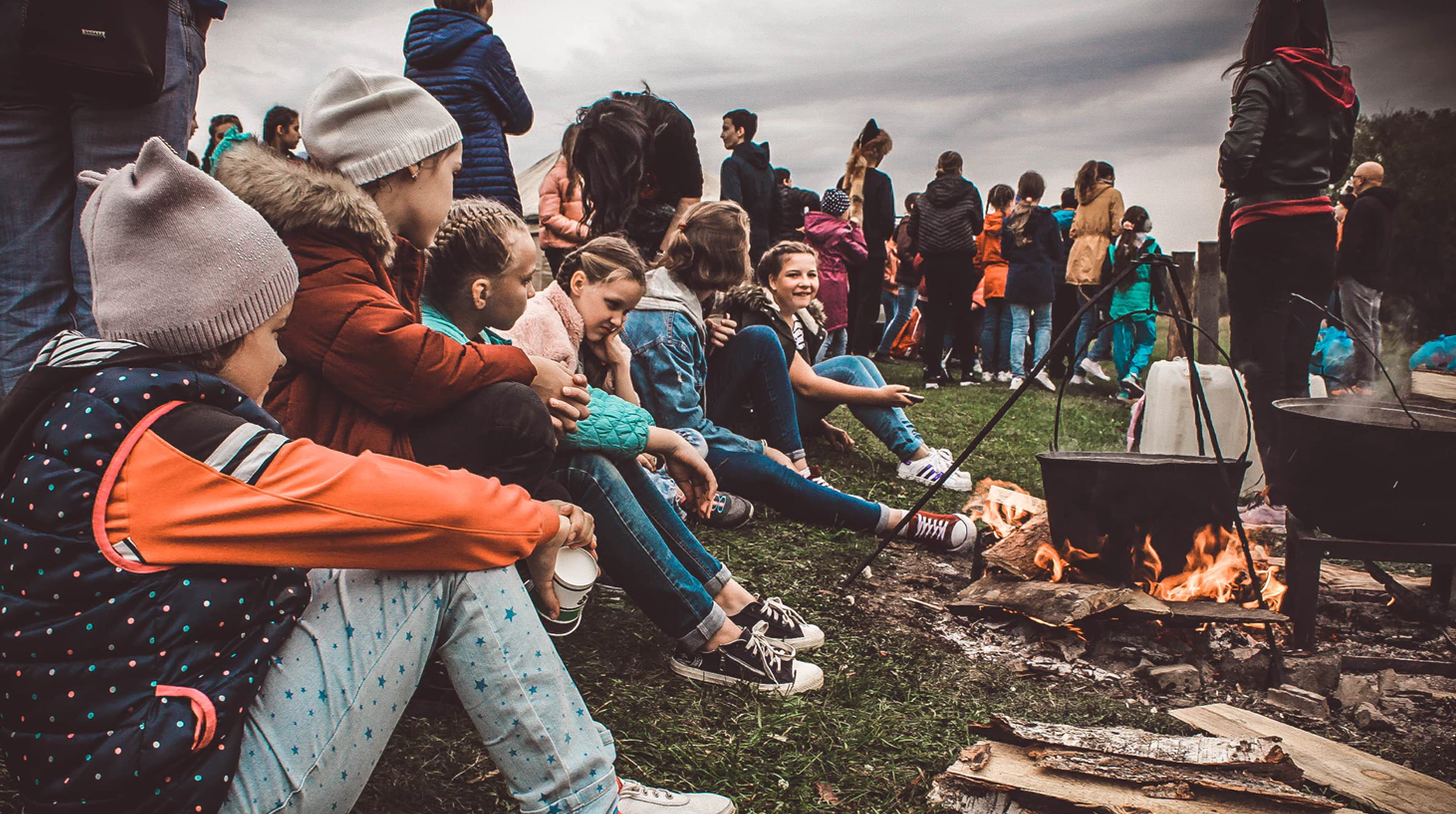 Joining the Big Brother Big Sister Program Post Image campfire with fellow kids - 3 Ways to Support Programs of Foster Care Centers